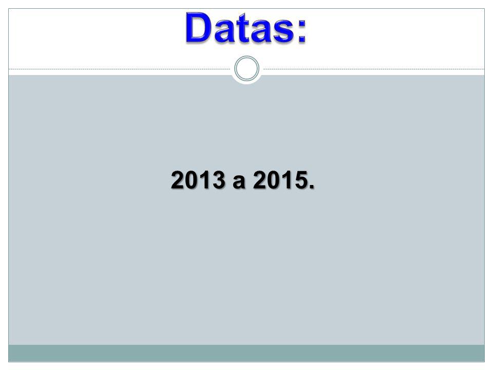 Datas: 2013 a 2015.