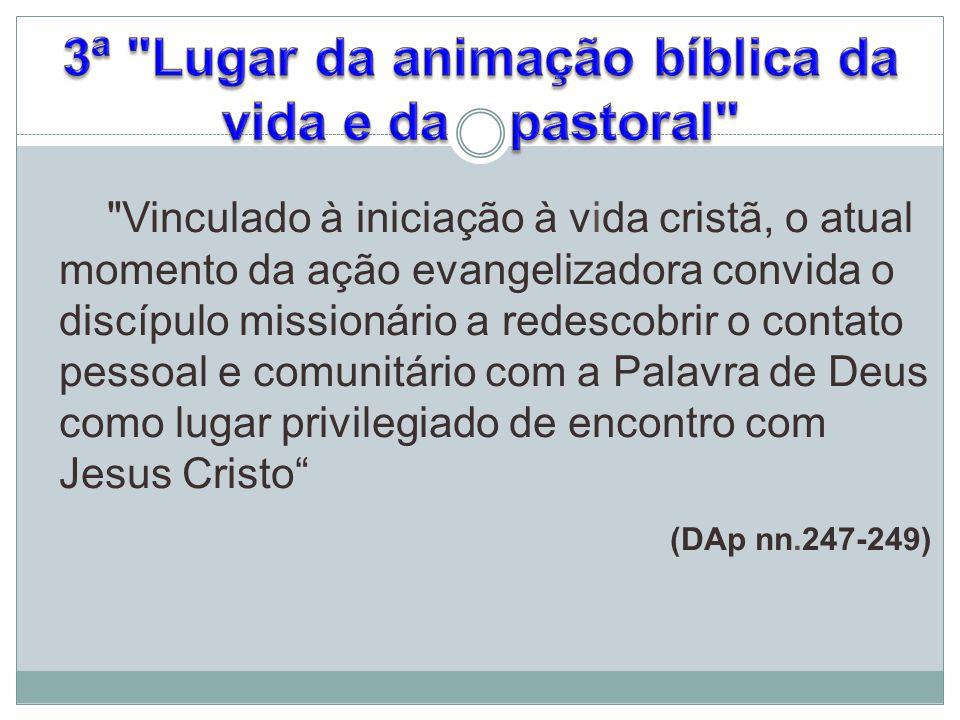 3ª Lugar da animação bíblica da vida e da pastoral