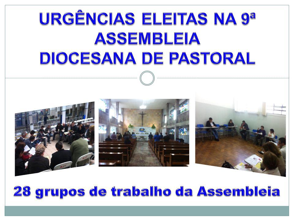URGÊNCIAS ELEITAS NA 9ª ASSEMBLEIA DIOCESANA DE PASTORAL