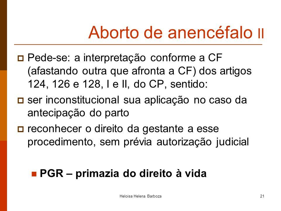 Aborto de anencéfalo II