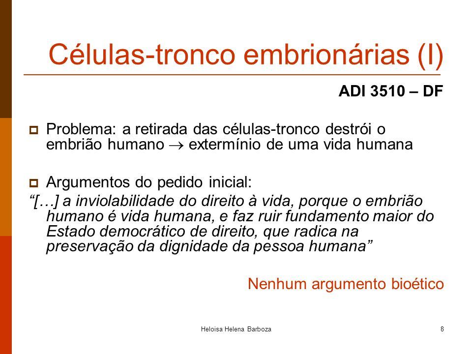 Células-tronco embrionárias (I)