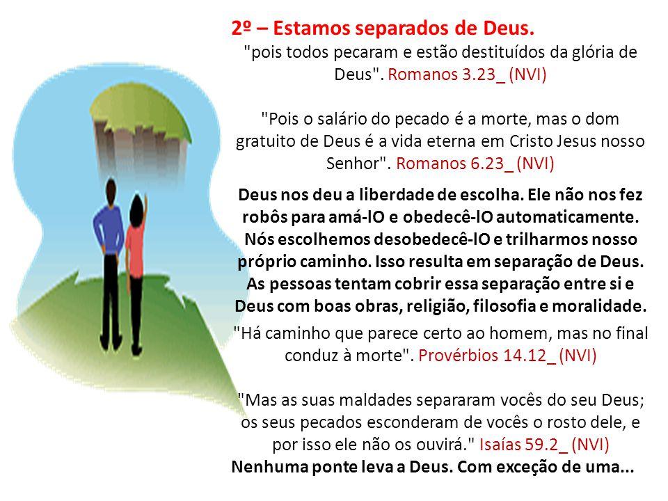 2º – Estamos separados de Deus.