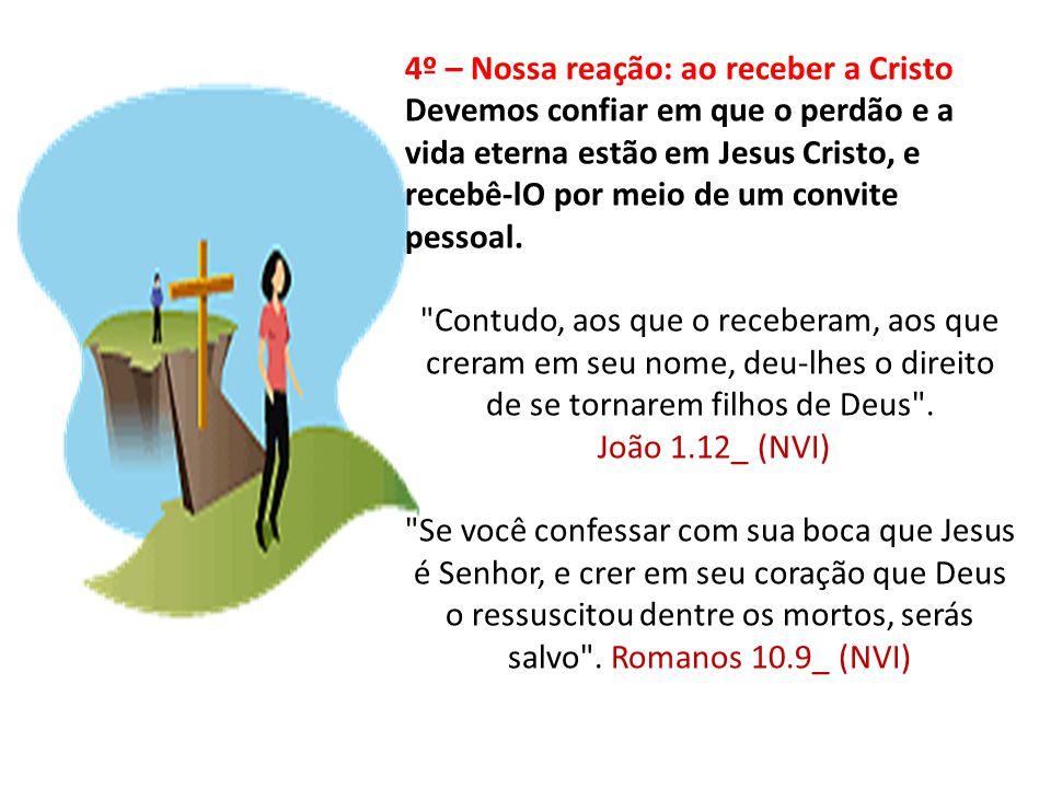 4º – Nossa reação: ao receber a Cristo