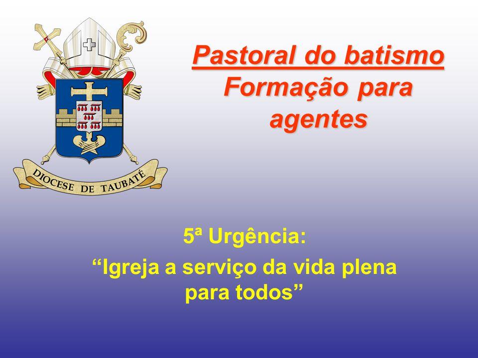 Pastoral do batismo Formação para agentes
