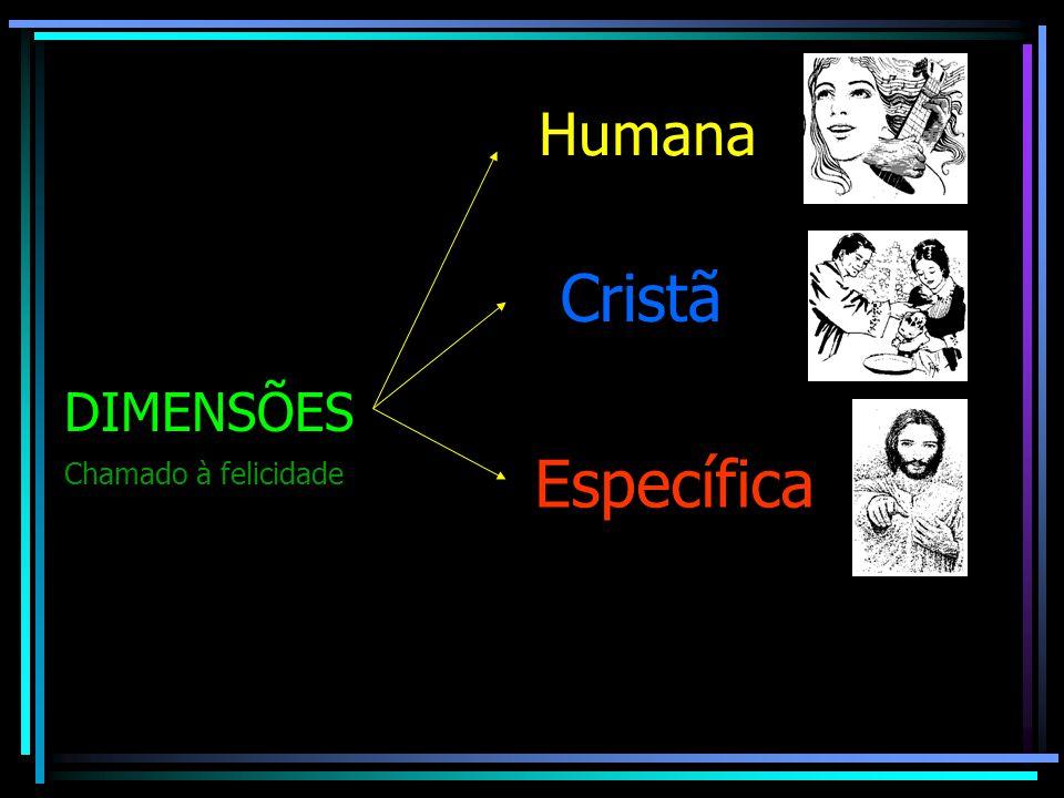 Humana Cristã DIMENSÕES Específica Chamado à felicidade