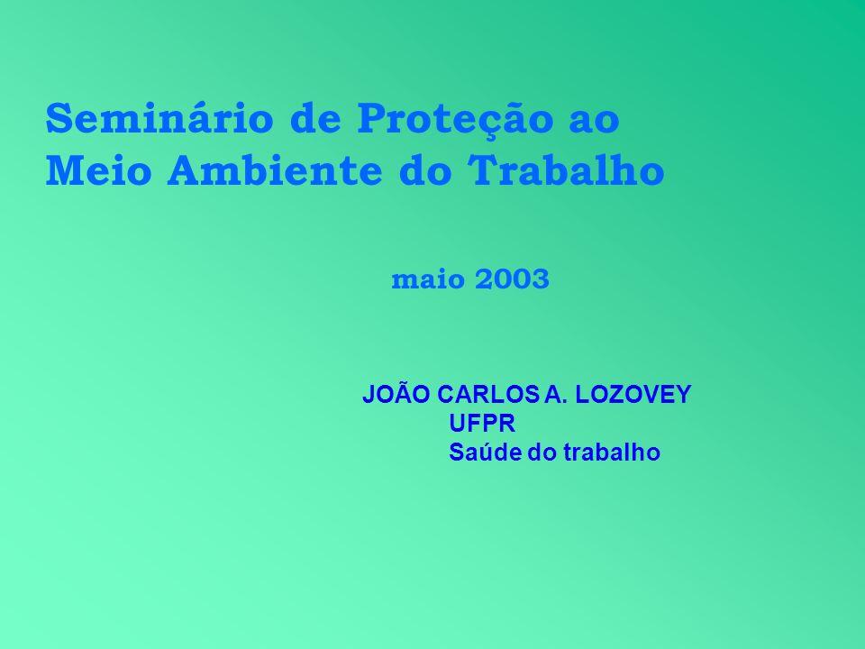 Seminário de Proteção ao Meio Ambiente do Trabalho maio 2003