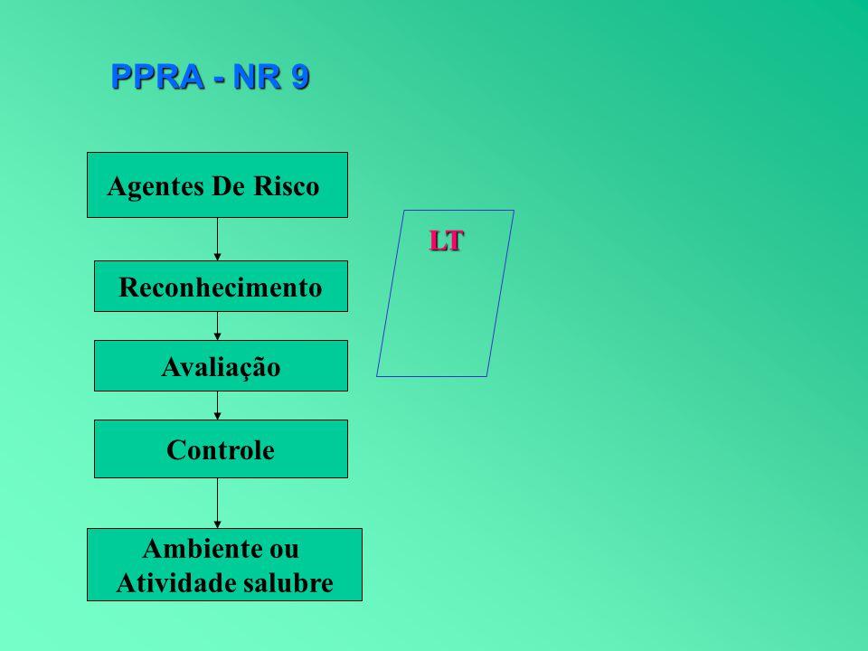 PPRA - NR 9 Agentes De Risco LT Reconhecimento Avaliação Controle