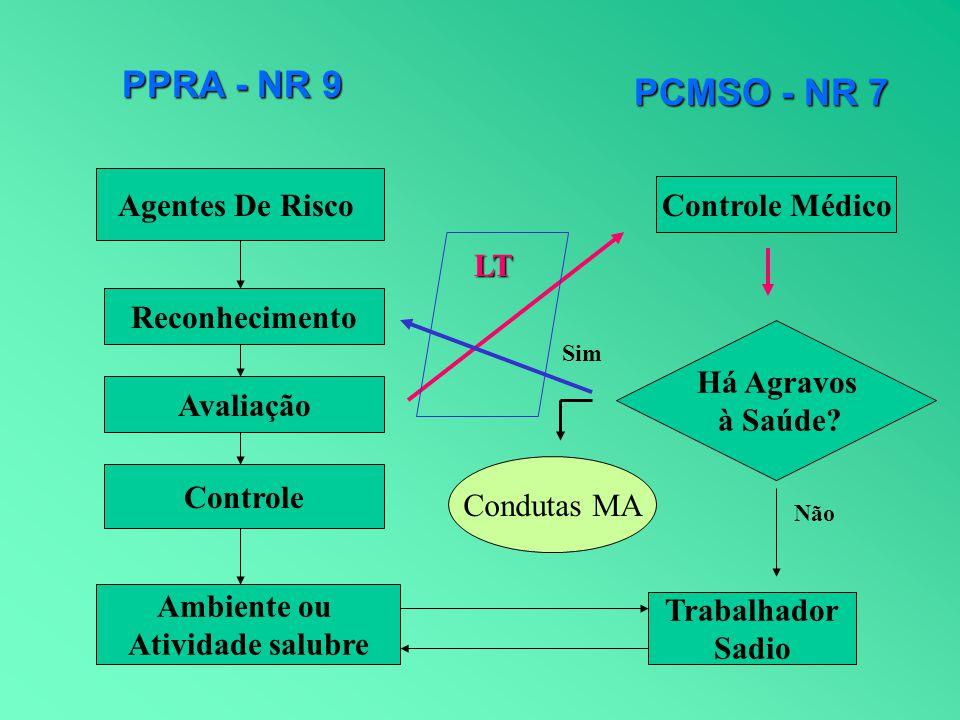 PPRA - NR 9 PCMSO - NR 7 Agentes De Risco Controle Médico LT
