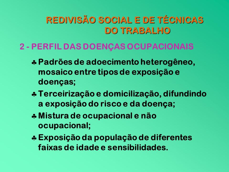 REDIVISÃO SOCIAL E DE TÉCNICAS DO TRABALHO