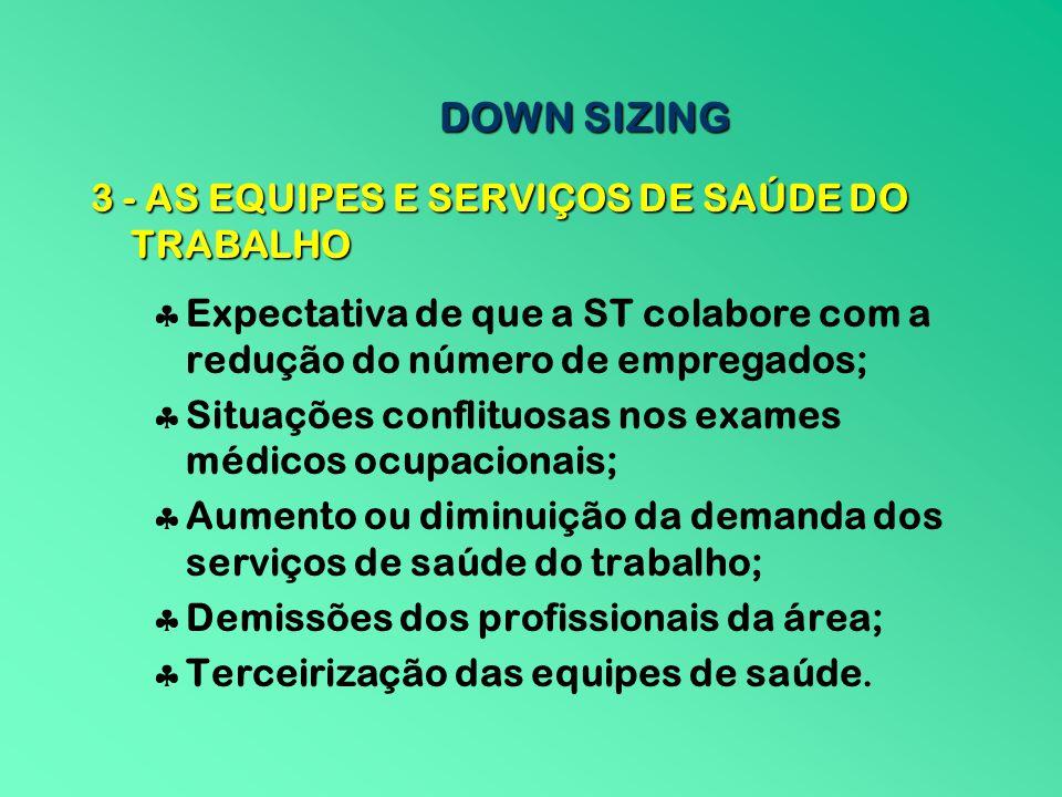 3 - AS EQUIPES E SERVIÇOS DE SAÚDE DO TRABALHO