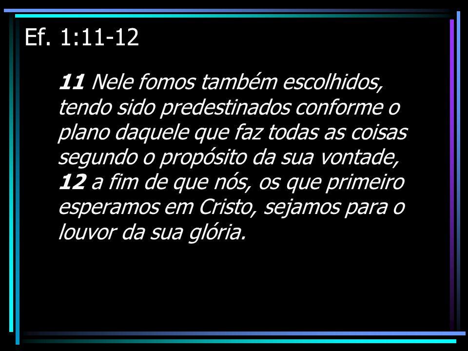 Ef. 1:11-12