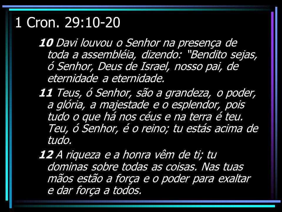 1 Cron. 29:10-20