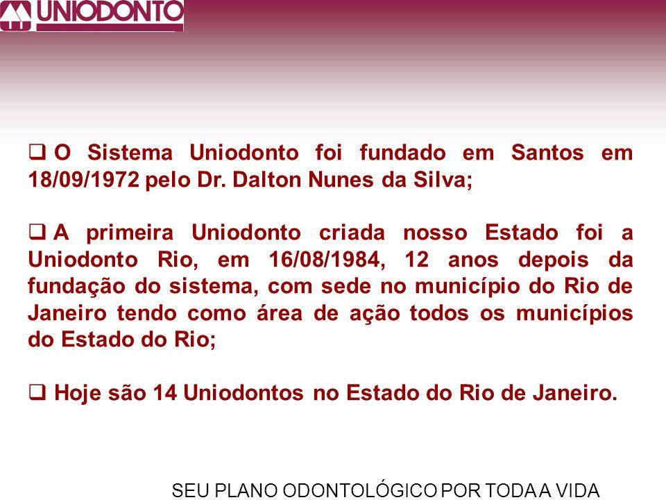 Hoje são 14 Uniodontos no Estado do Rio de Janeiro.