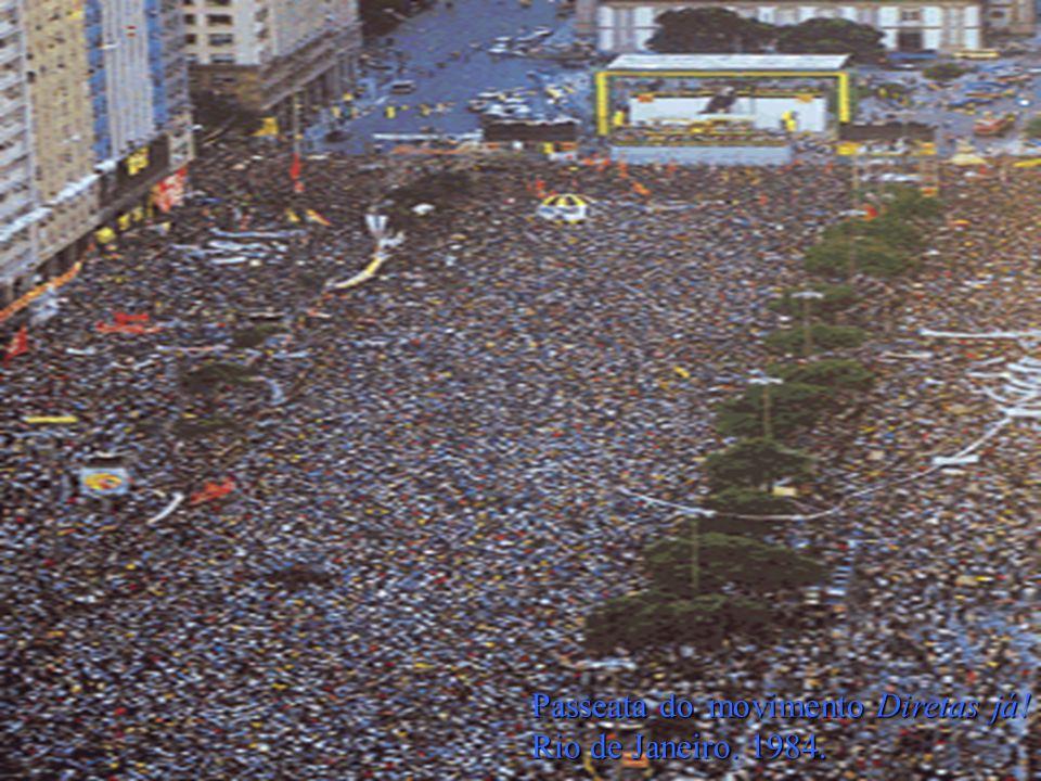 Passeata do movimento Diretas já! Rio de Janeiro. 1984.