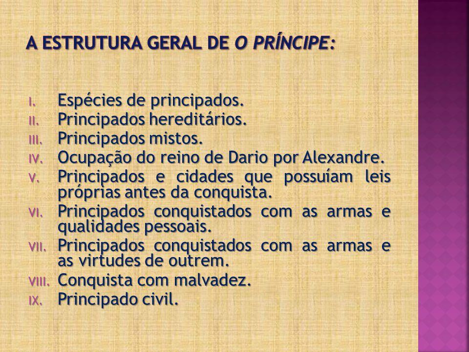 A estrutura geral de O Príncipe: