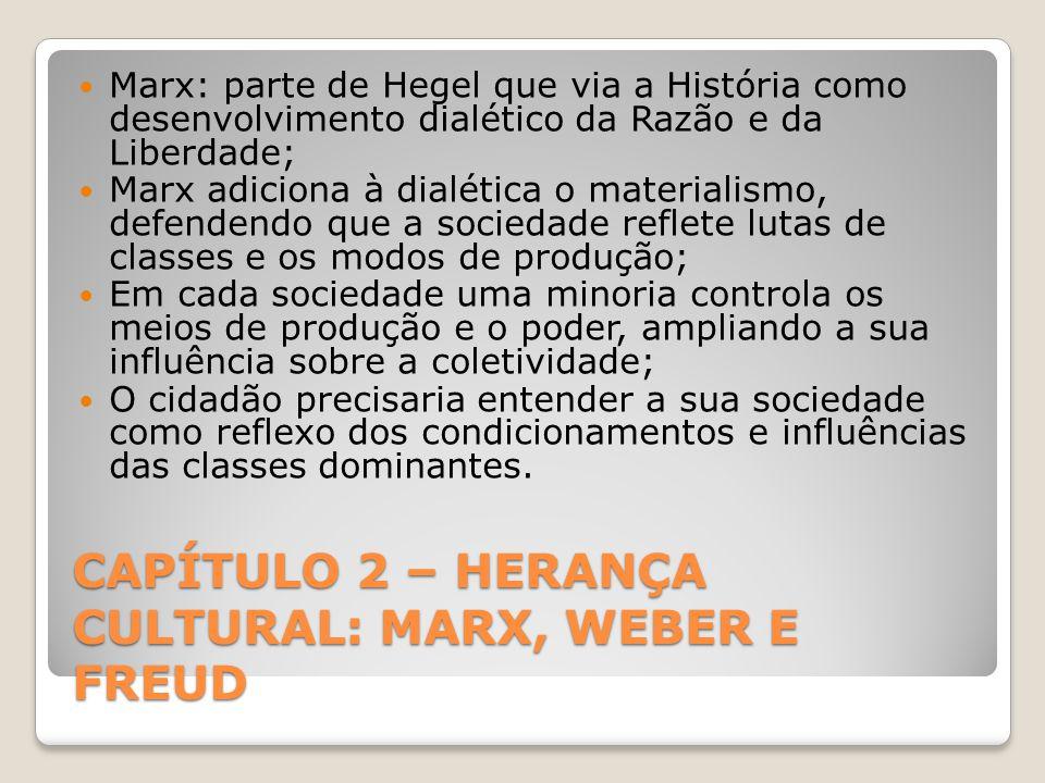 CAPÍTULO 2 – HERANÇA CULTURAL: MARX, WEBER E FREUD