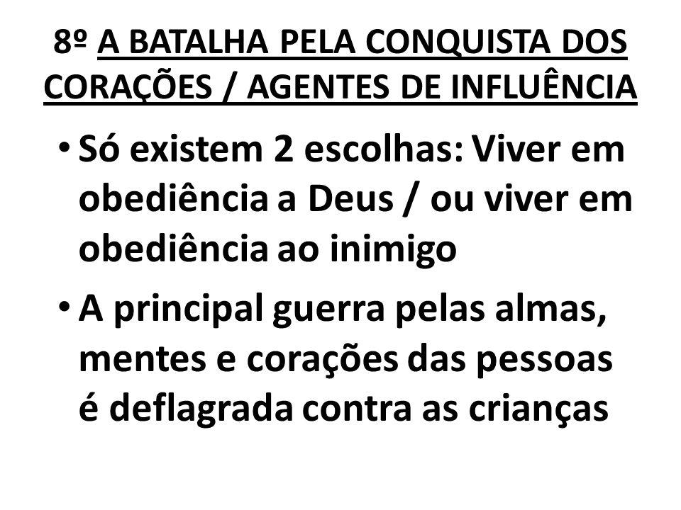 8º A BATALHA PELA CONQUISTA DOS CORAÇÕES / AGENTES DE INFLUÊNCIA