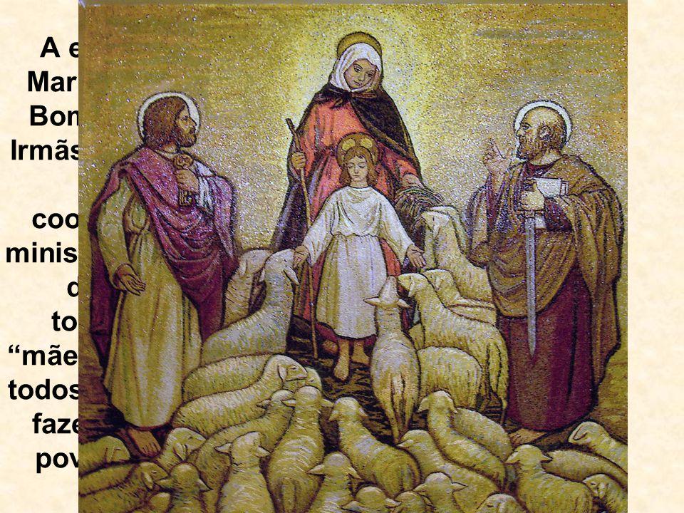 A exemplo de Maria, a Mãe do Bom Pastor, as Irmãs Pastorinhas vivem a cooperação no ministério pastoral de Cristo, tornando-se mães e irmãs de todos aqueles que fazem parte do povo de Deus.