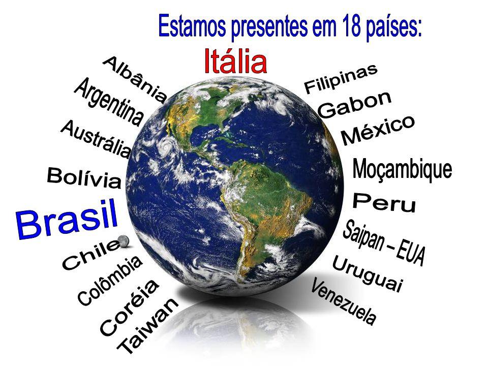 Estamos presentes em 18 países: