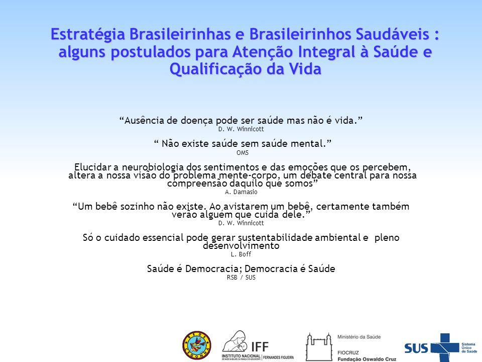 Estratégia Brasileirinhas e Brasileirinhos Saudáveis : alguns postulados para Atenção Integral à Saúde e Qualificação da Vida
