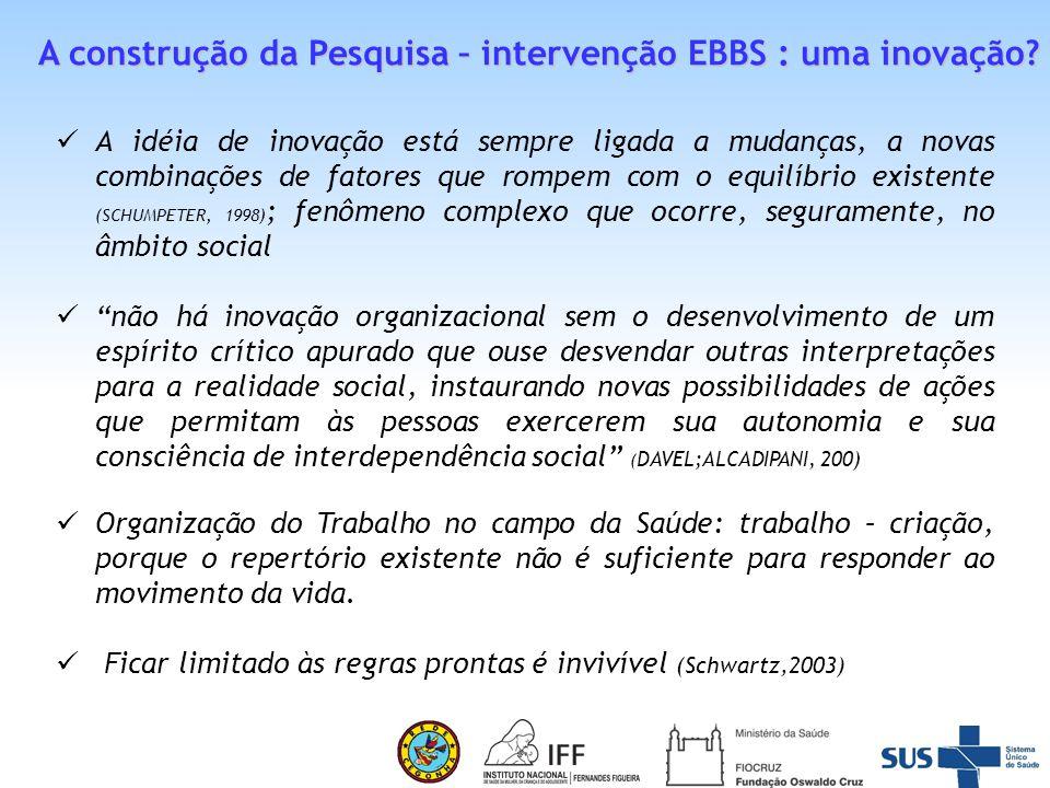 A construção da Pesquisa – intervenção EBBS : uma inovação