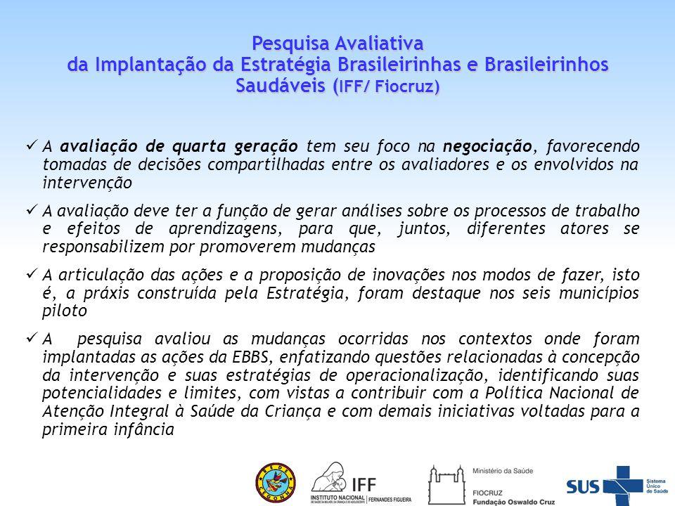 Pesquisa Avaliativa da Implantação da Estratégia Brasileirinhas e Brasileirinhos Saudáveis (IFF/ Fiocruz)