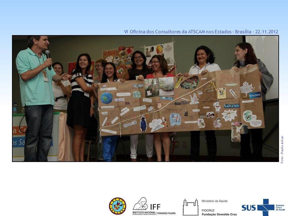 VI Oficina dos Consultores da ATSCAM nos Estados – Brasília – 22. 11