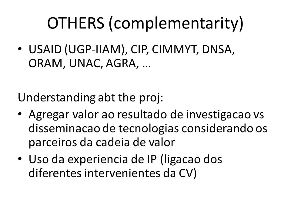 OTHERS (complementarity)