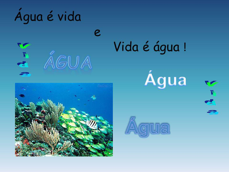Água é vida e Vida é água ! Água Vida Água Vida Água