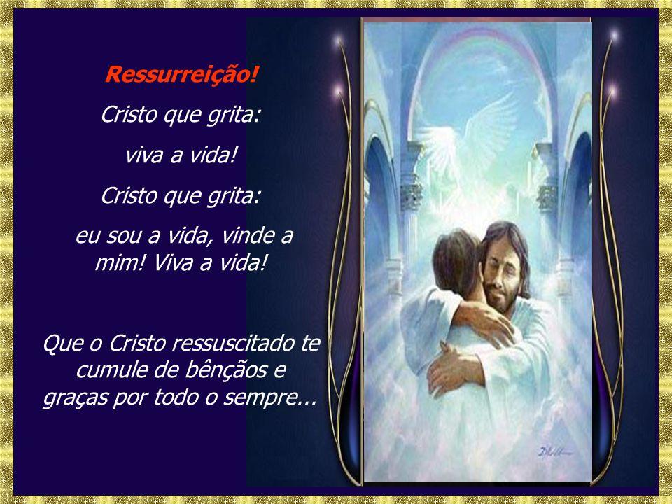 Ressurreição! Cristo que grita: viva a vida!