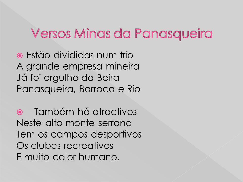 Versos Minas da Panasqueira
