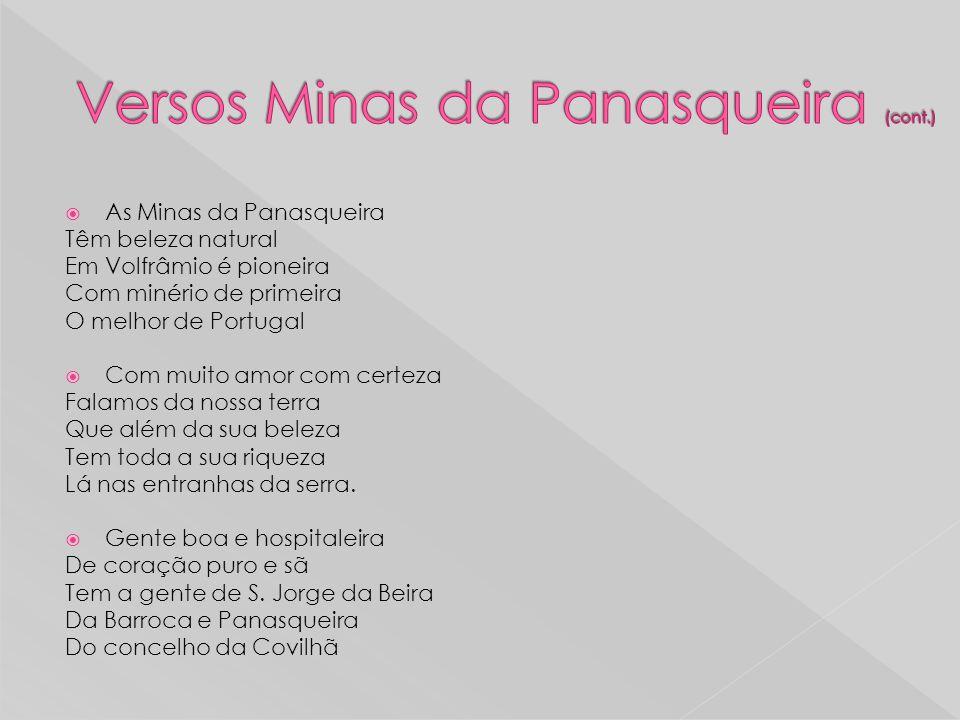 Versos Minas da Panasqueira (cont.)