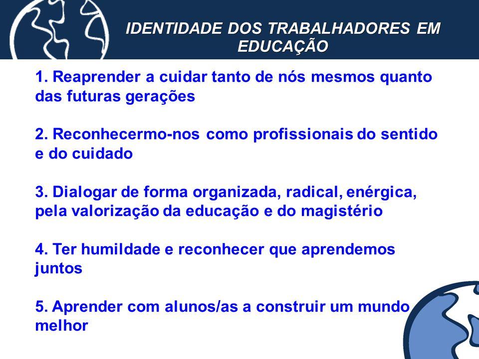 IDENTIDADE DOS TRABALHADORES EM EDUCAÇÃO