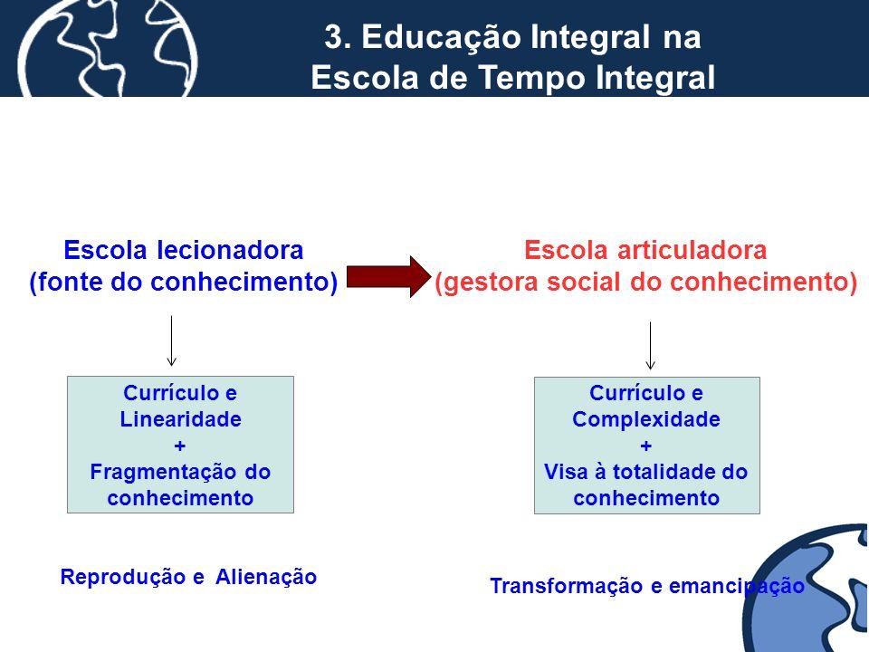 3. Educação Integral na Escola de Tempo Integral