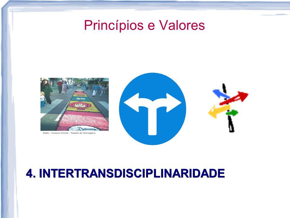 Princípios e Valores 4. INTERTRANSDISCIPLINARIDADE