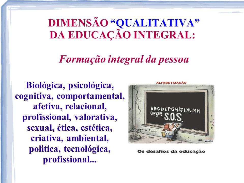 DIMENSÃO QUALITATIVA DA EDUCAÇÃO INTEGRAL: Formação integral da pessoa