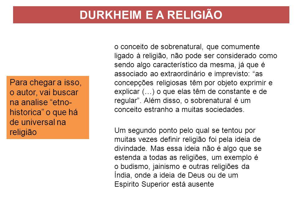 DURKHEIM E A RELIGIÃO