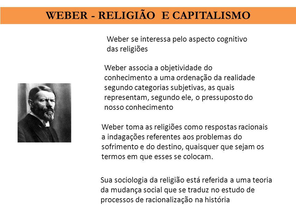 WEBER - RELIGIÃO E CAPITALISMO