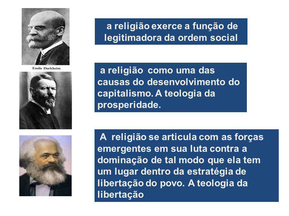 a religião exerce a função de legitimadora da ordem social