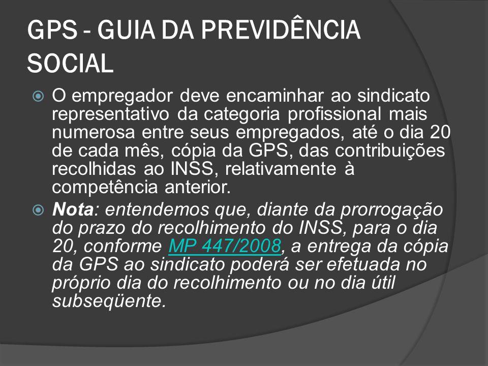 GPS - GUIA DA PREVIDÊNCIA SOCIAL