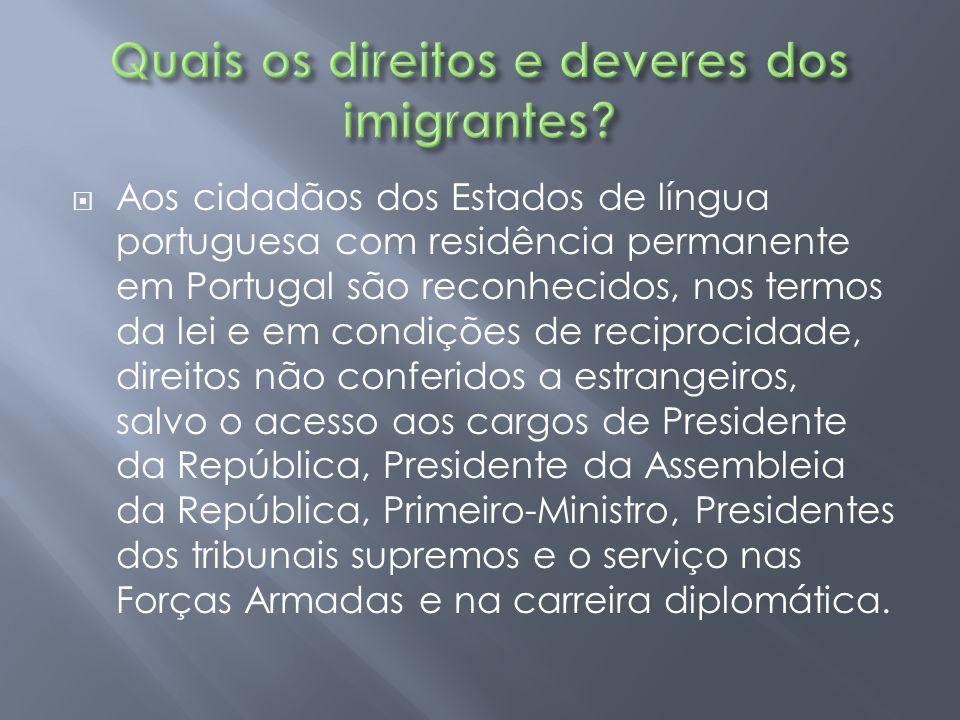 Quais os direitos e deveres dos imigrantes