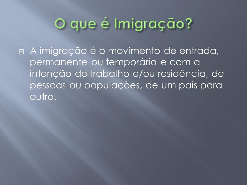 O que é Imigração