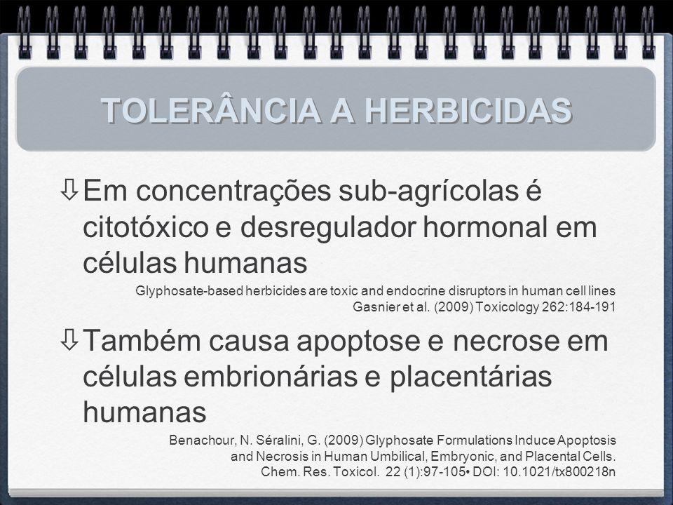 TOLERÂNCIA A HERBICIDAS