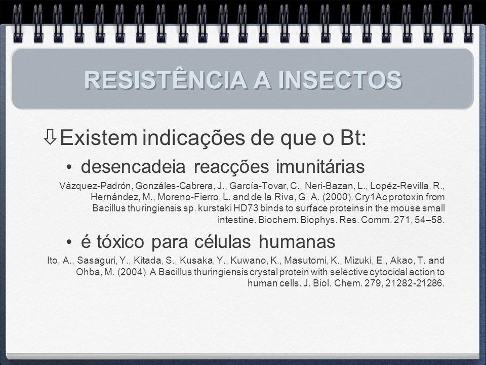 RESISTÊNCIA A INSECTOS