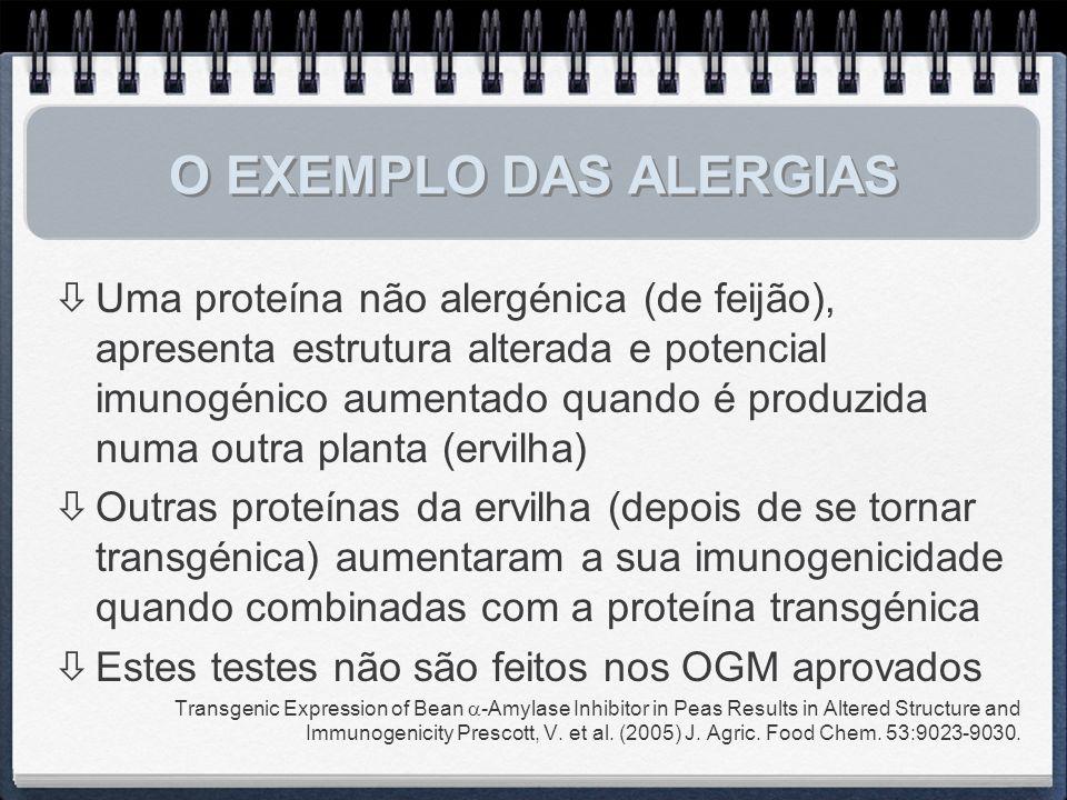 O EXEMPLO DAS ALERGIAS