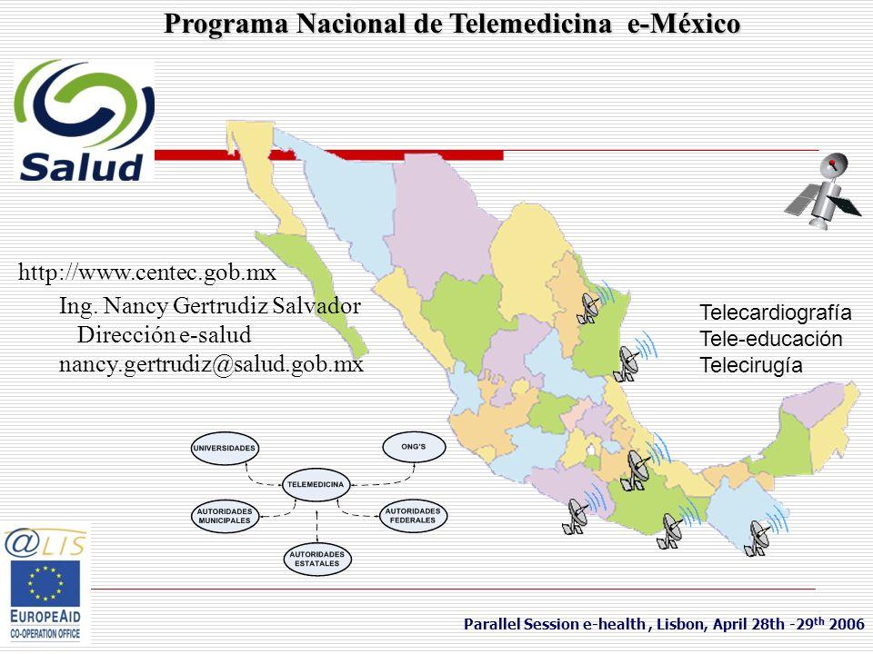Programa Nacional de Telemedicina e-México