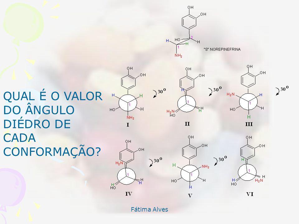QUAL É O VALOR DO ÂNGULO DIÉDRO DE CADA CONFORMAÇÃO Fátima Alves