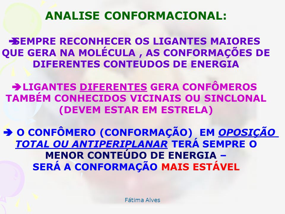 ANALISE CONFORMACIONAL: