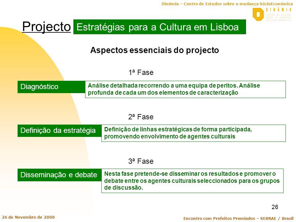 Projecto Estratégias para a Cultura em Lisboa