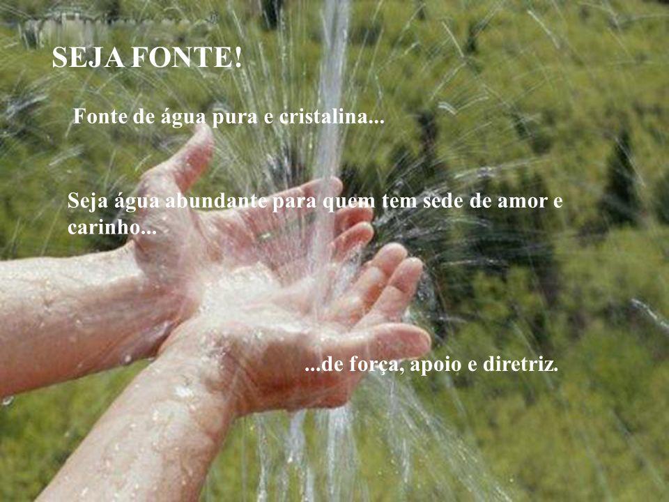 SEJA FONTE! SEJA FONTE! Fonte de água pura e cristalina...